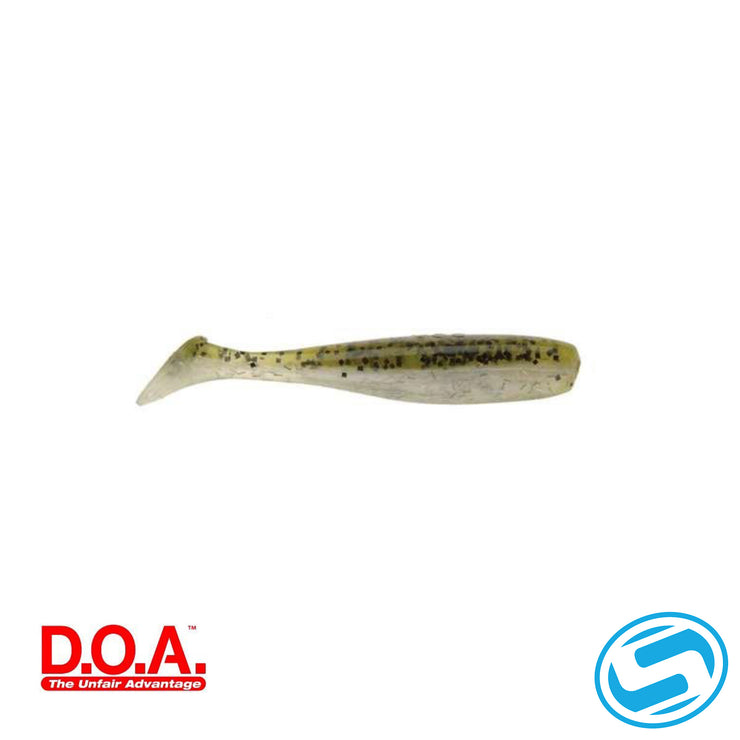 "D.O.A. 3"" Green Back Paddle Tail"