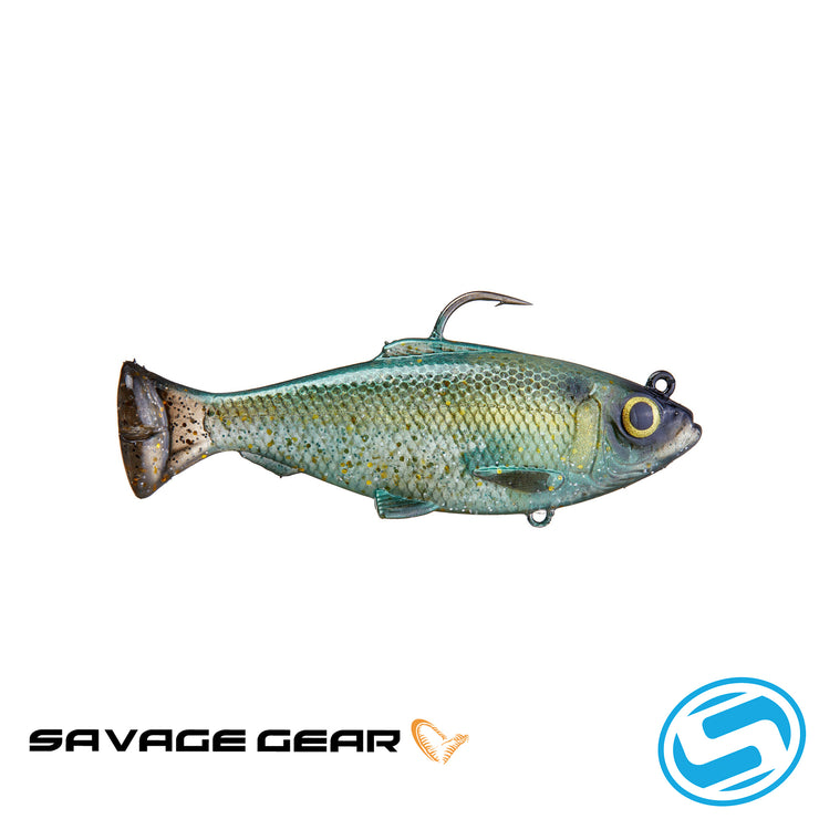 Savage Gear Pulse Tail RTF Baitfish Swimbait (Green Back)