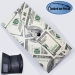 $100 Benjamin Franklin Wallet Billfold Snap Closure One Hundred Dollar Vinyl