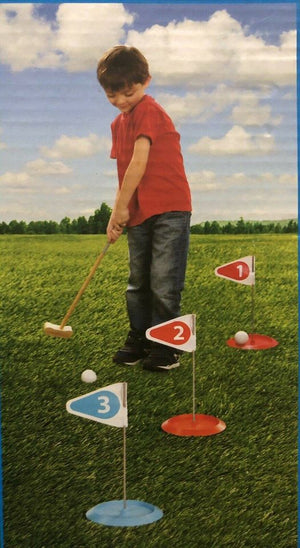 7 Piece Golf Putting Game Set Ages 5 And Up BRAND NEW