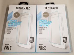 2-Pack Bodyguardz LG G7 ThinQ Tempered Aluminosilcate Glass Screen Protector