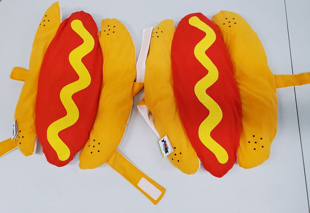 Lot of 2 Pet hot dog costume or fun hat