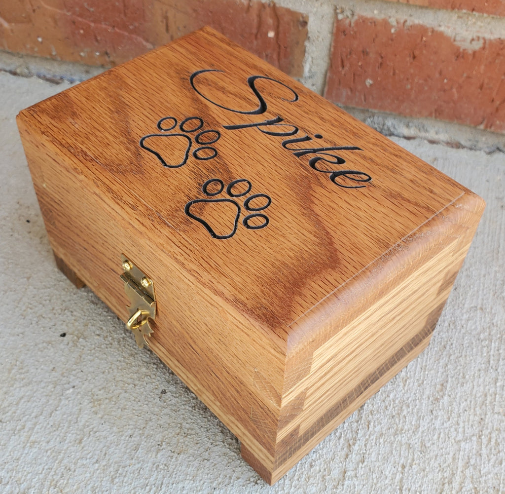 Customizable - Pet Urn - Red Oak Box