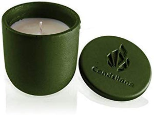 Candellana Candles Candlefort Concrete Candle- Modern I Round bottom - Various Colors and Scents 3.5 x 3.1 x 3.1 inches