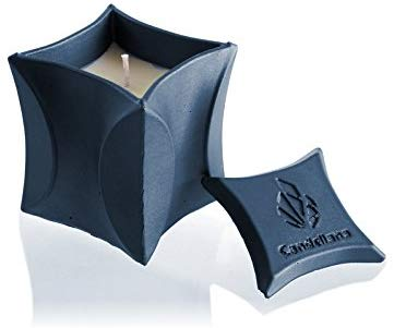 Candellana Candles Candlefort Concrete Candle- Modern II Various Colors & Scents Beautiful Design 3.9 x 3.1 x 3.1 inches