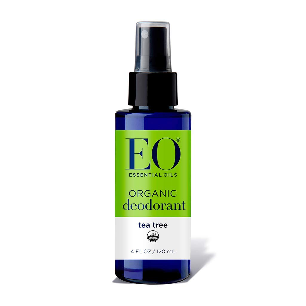 EO Essential Oils Organic Deodorant Spray Tea Tree Oil, 4 oz Spray