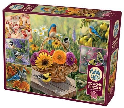 Cobble Hill 2000 Piece Puzzle - Rosemary's Birds - Sample Poster Included