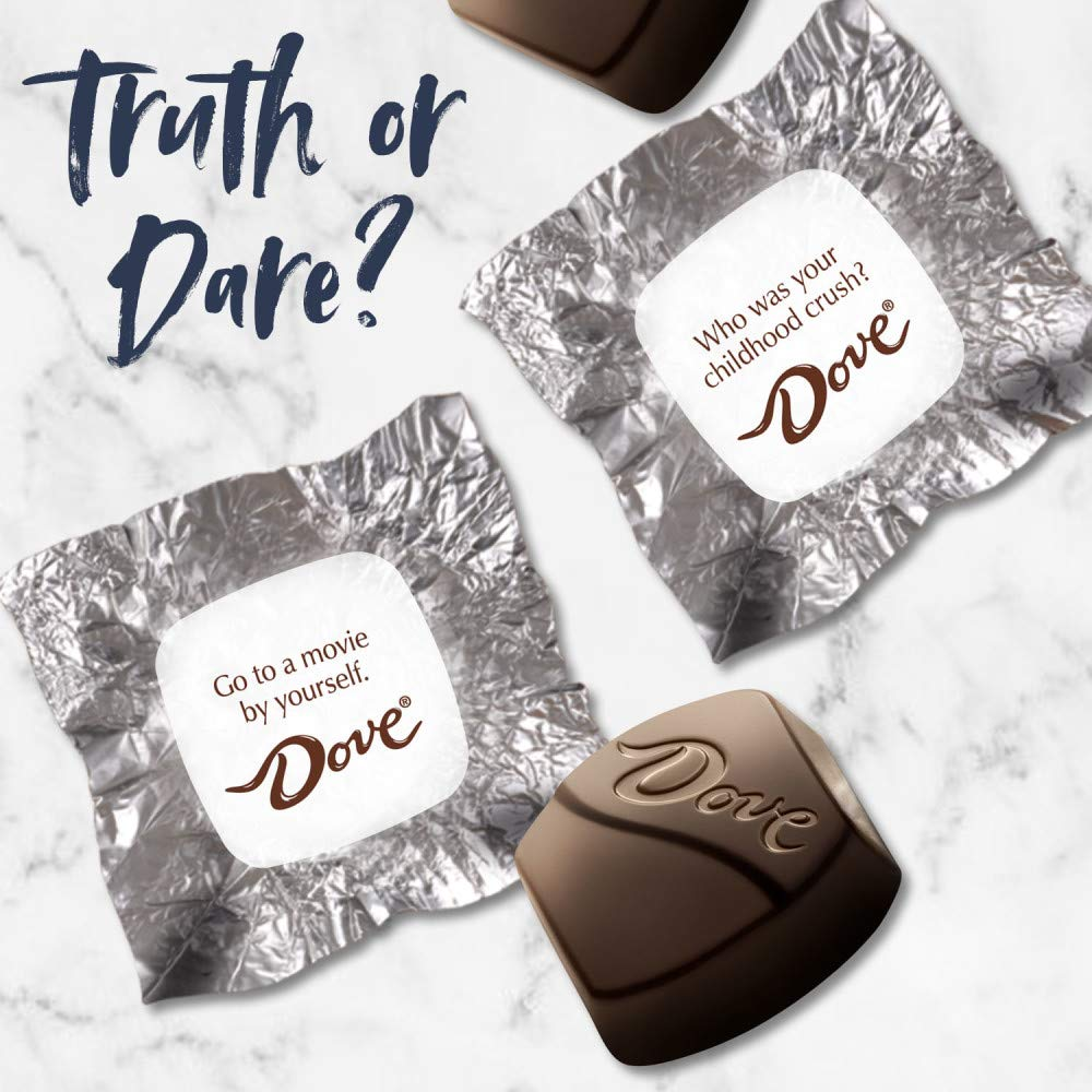 DOVE PROMISES Midnight Fudge Cookie Dark Chocolate Valentine Candy, 7.94 oz Bag