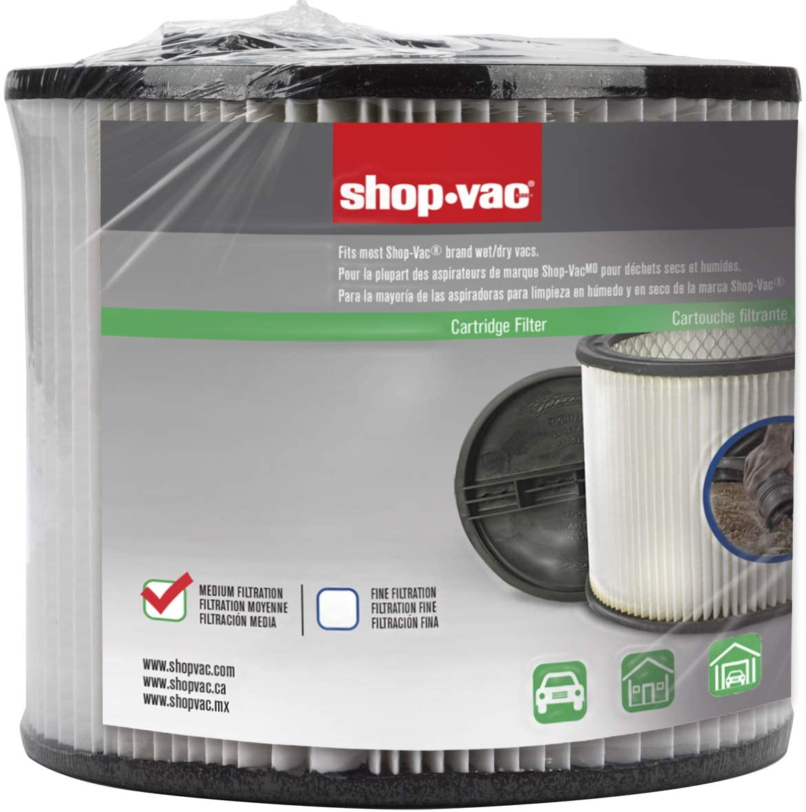 Shop-Vac 90304 Genuine Cartridge Filter, Single Pack