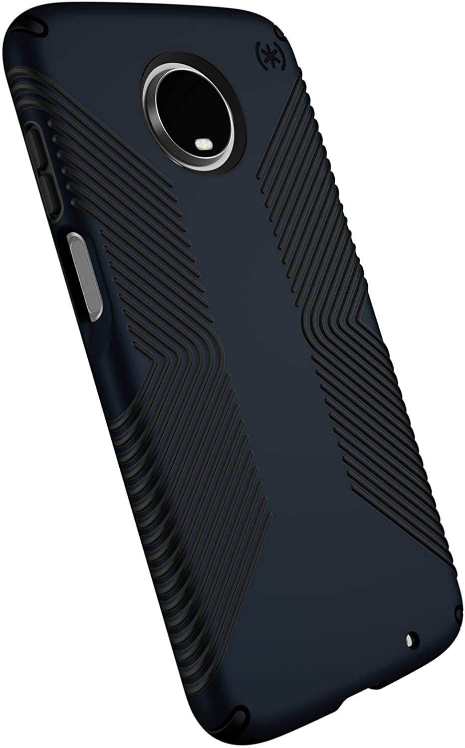 Speck Products Compatible Phone Case for Motorola Moto Z3, Moto Z3 Play, Presidio Grip Case, Eclipse Blue/Carbon Black