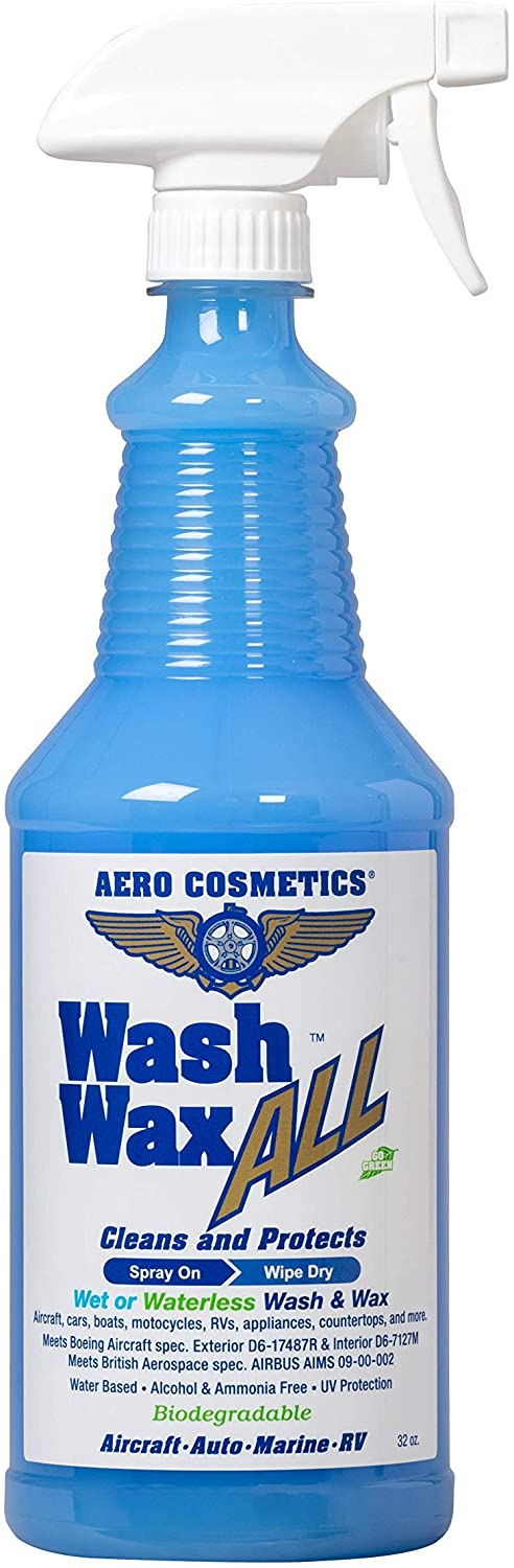 Aero Cosmetics Wet or Waterless Car Wash Wax 32 oz. Aircraft Quality Wash Wax