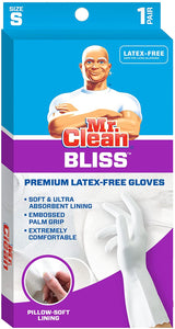 Mr. Clean Bliss, Small Latex-Free Soft Gloves, (Small)