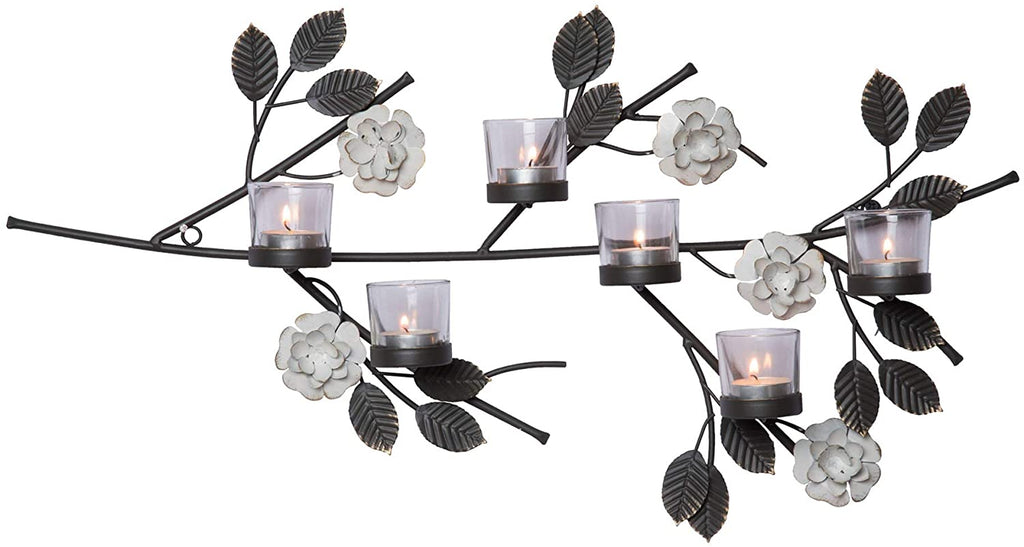 Floral Wall Votive Candle Holder