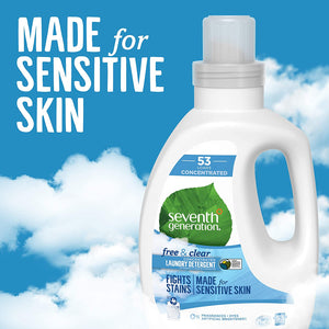 Seventh Generation Natural 4X Laundry Detergent Free & Clear - 40 fl oz