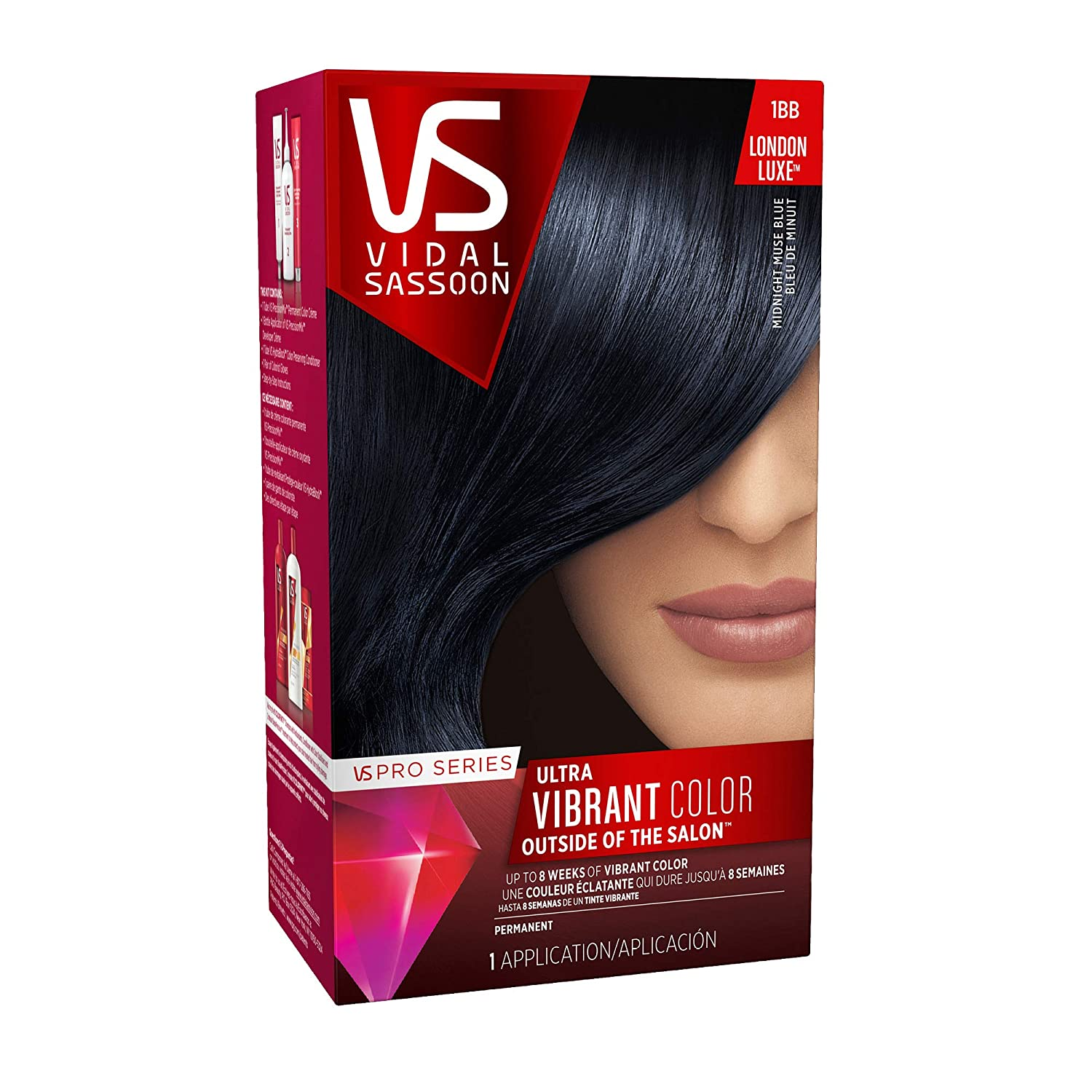 Clairol Vidal Sassoon Pro Series Hair Coloring Tools, 1bb Midnight Muse Blue