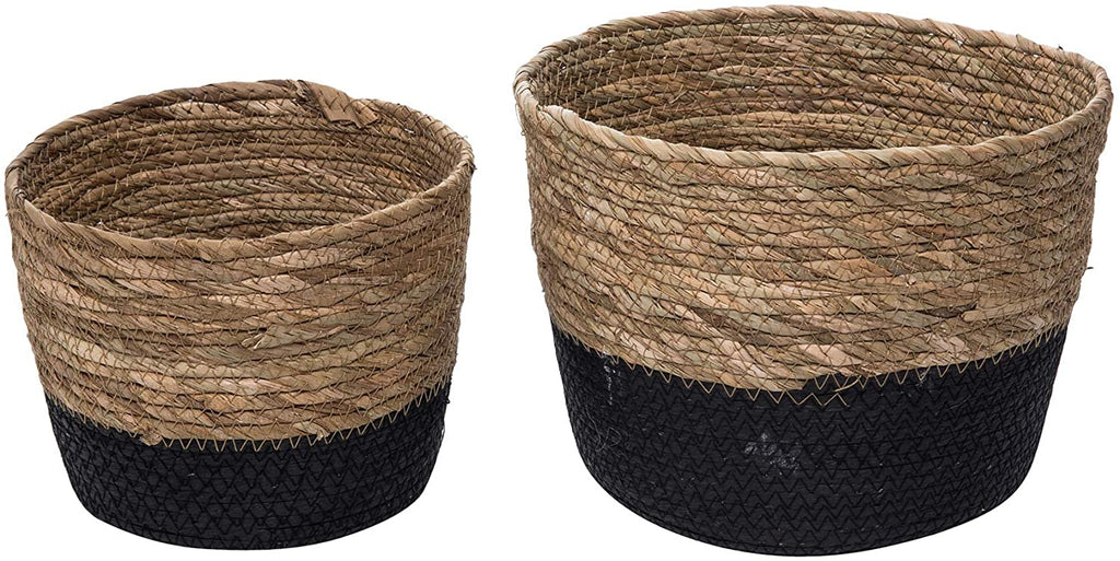 Garden Baskets Natural Large Two-Toned Set of 2