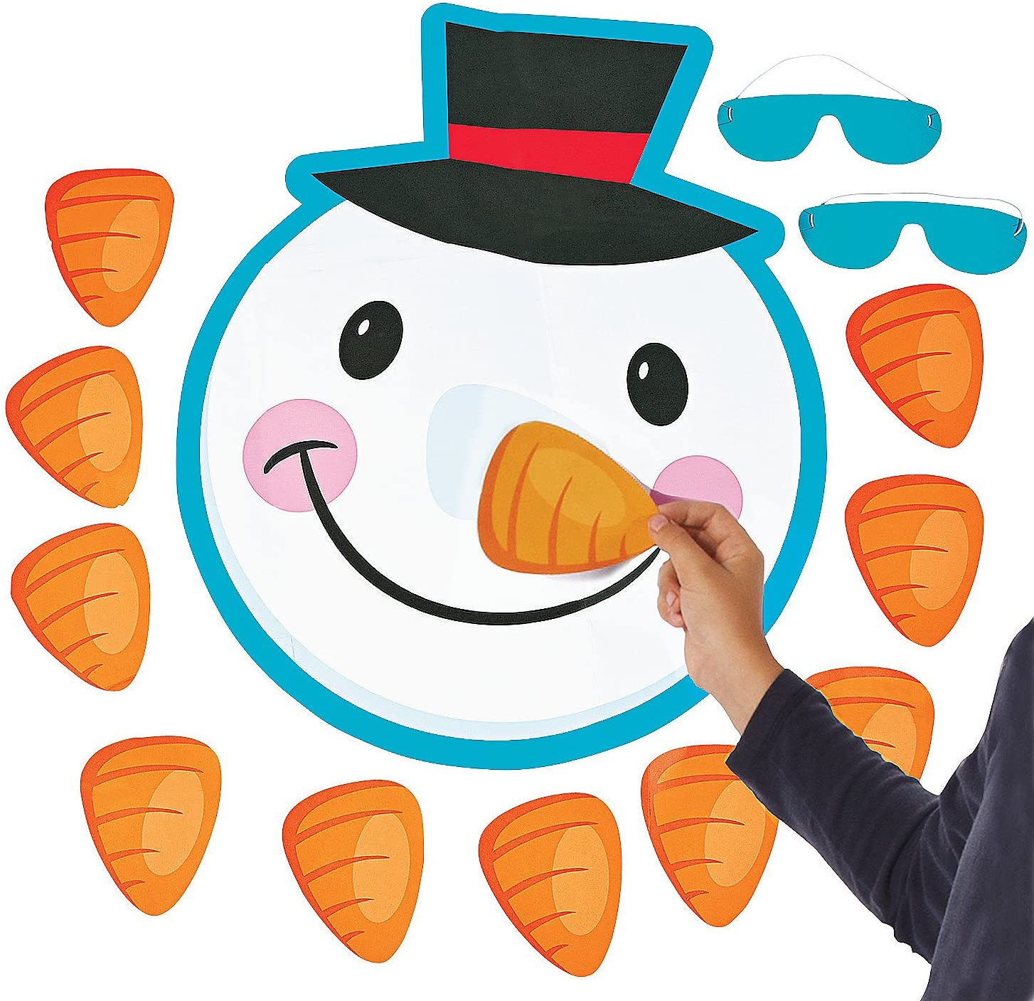 Pin The Nose On The Snowman for Christmas Game