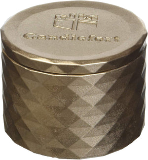 Candellana Candles Candlefort Concrete Candle- Poly I Shape Various colors & Scents 2.4 x 3.9 x 3.9 inches