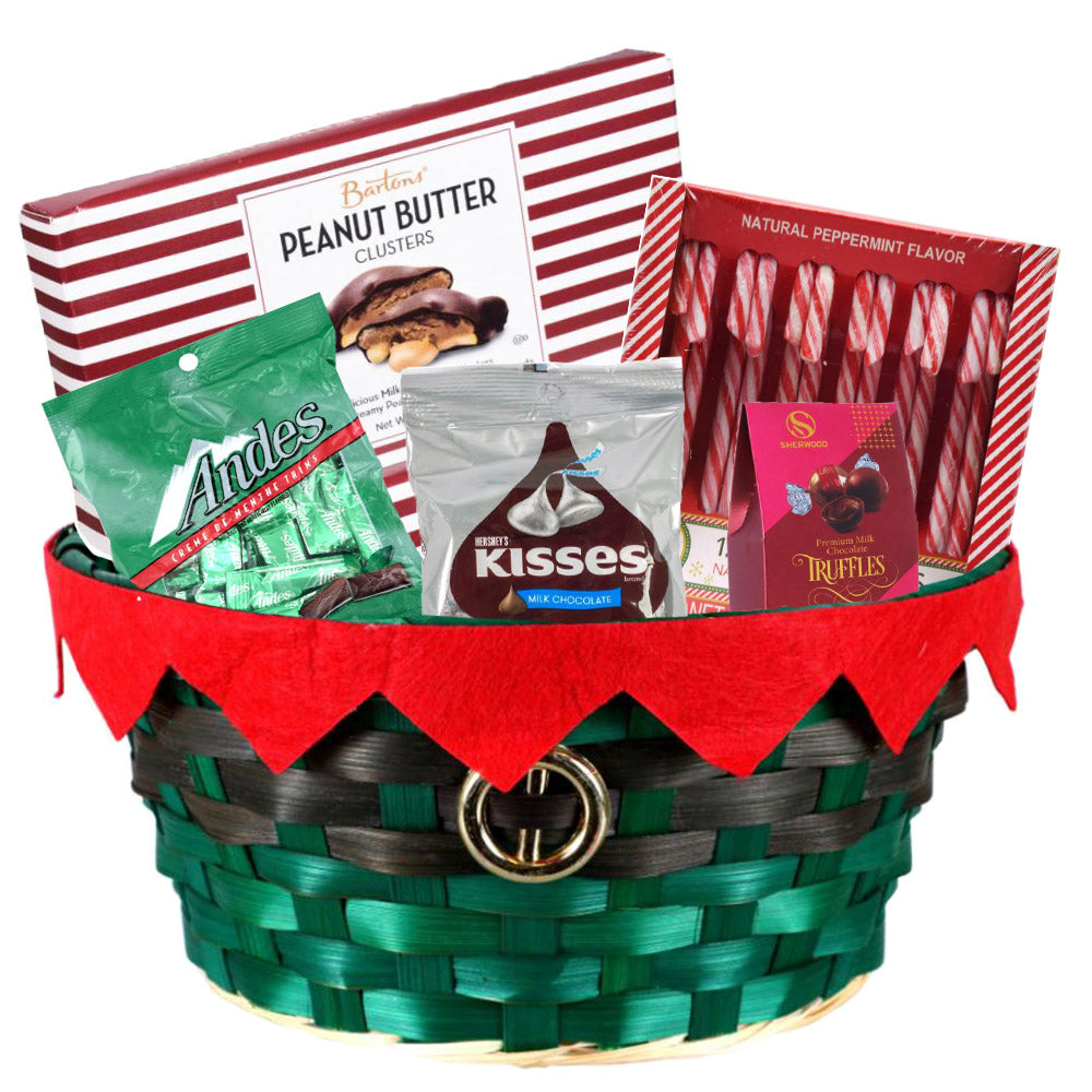 Christmas Candy Gift Basket Full of Treats