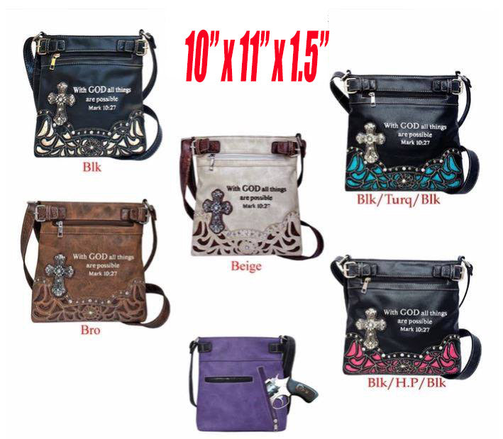 Christian Conceal Carry Handbag Purse Mark 10:27