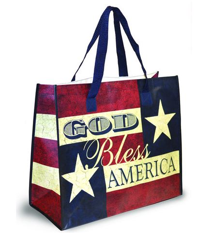 God Bless America: 4 Color Tote Bag