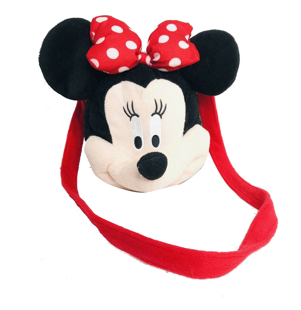 Minnie Mouse Head Shaped Plush Shoulder Bag Purse