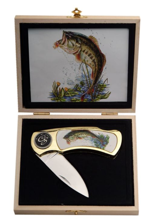 "BASS FISH GIFT BOX 4"" Knife"