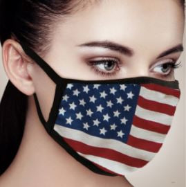 American Flag Soft Face Mask - Adjustable
