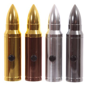 Mini 50 Caliber Bullet Shaped Flashlight Torch for the Veteran and Gun Enthusiast Batteries Included