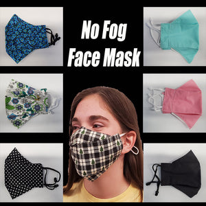 No Fog Face Mask - Adjustable - Various designs