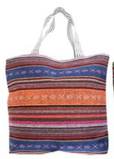 "Zipper Stripe Canvas Tote (15.5"" X 18"")"