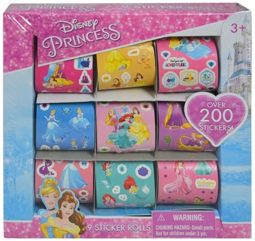 Princess 9 Roll Sticker Box Over 200 Stickers