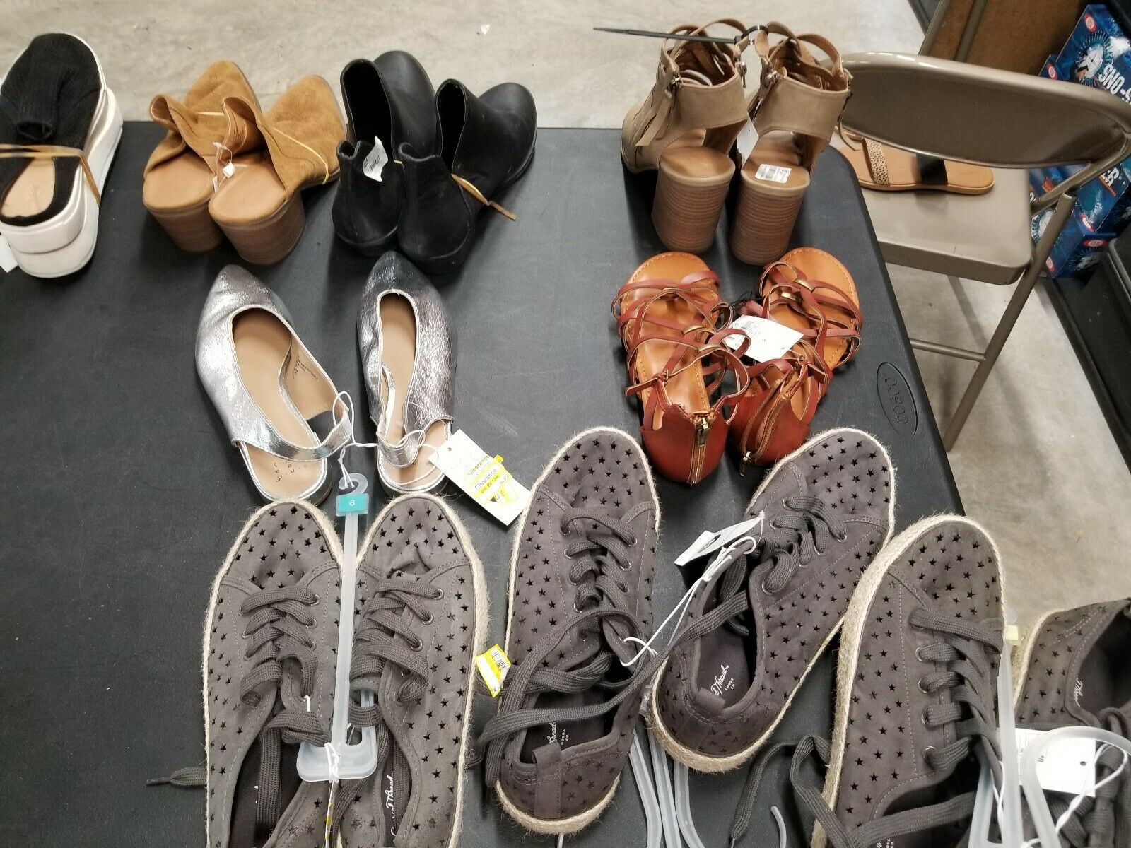 Re-seller Assorted Shoe Lot - 10 BRAND NEW Adult & Kids - Over $200.00 Retail