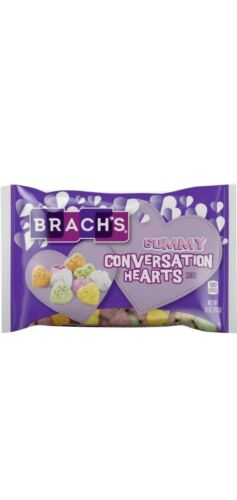 Valentine's Day Candy Brach's Gummy Conversation Hearts (10oz Bag)