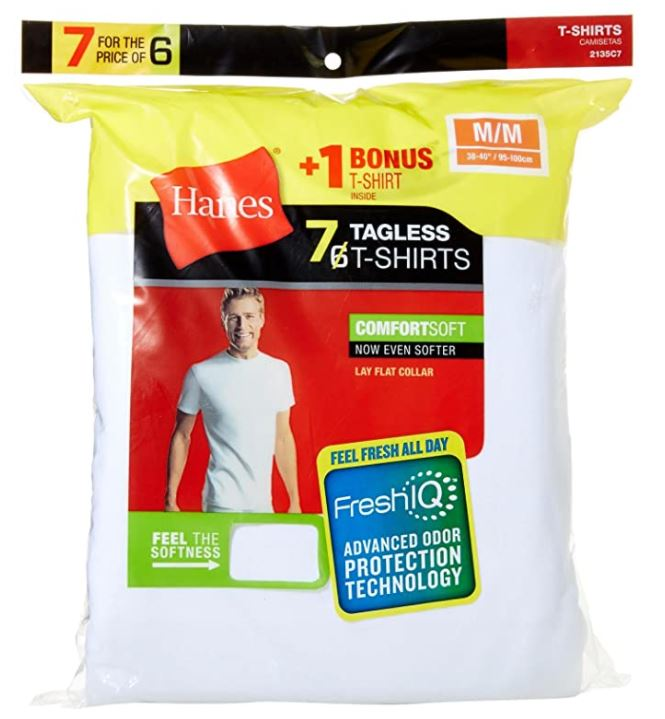Hanes Men's 7 Pack FreshIQ Comfort soft Crewneck T-Shirt