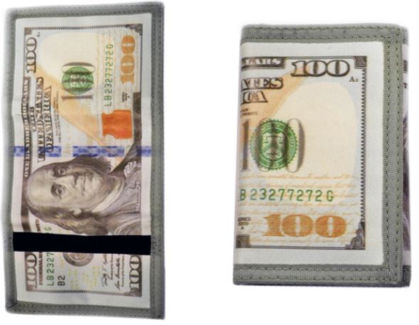 $100 BILL NYLON WALLET
