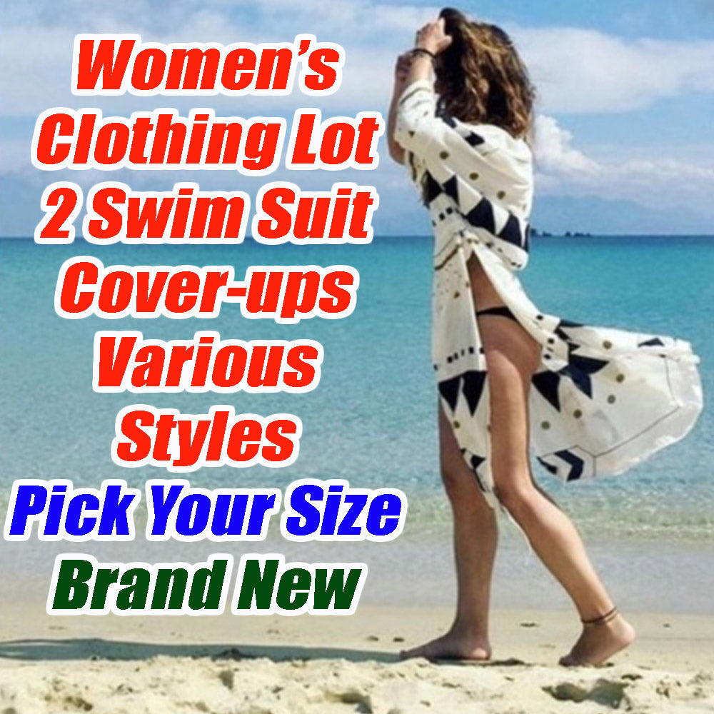 Women's 2 Piece Clothing Lot -2 Swim Suit cover ups - Pick your size - All Brand New