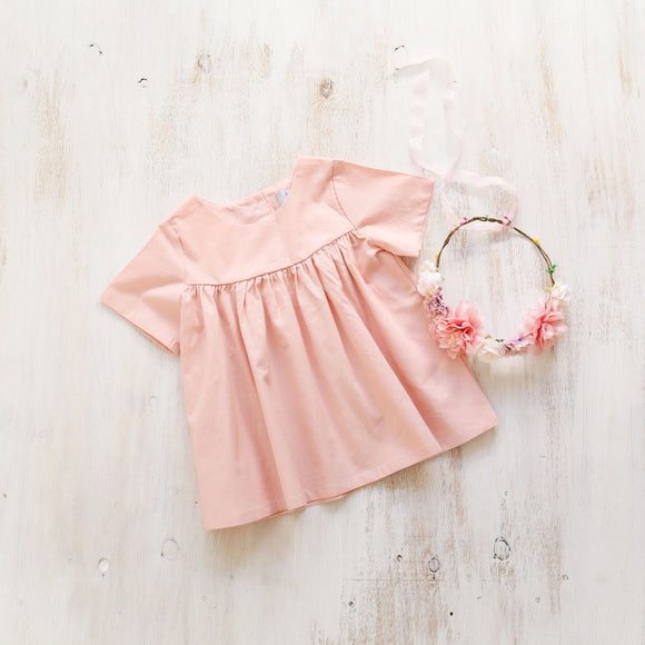 Piper & Me pink Alexa blouse for girls