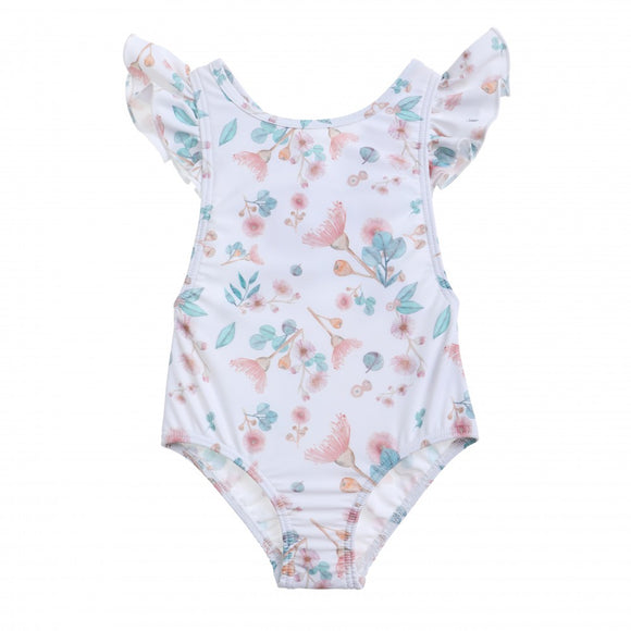 Willow Swim Gracie in Gumnut print Girls Swimwear