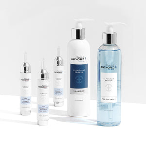 EXTRA CLEAN KIT FOR MEN<br>Three HairAnchoring Essences <br>PreCleanser Plus Shampoo <br>