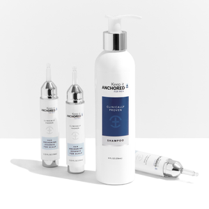 ESSENTIALS KIT FOR MEN<br>Three HairAnchoring Essences<br>& Shampoo <br>