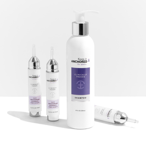 ESSENTIALS KIT FOR WOMEN<br>Three HairAnchoring Essences<br>& Shampoo <br>