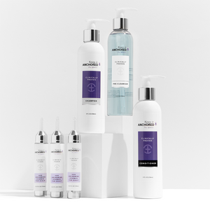 COMPLETE KIT FOR WOMEN<br>Three HairAnchoring Essences <br>Plus Pre-Cleanser, Shampoo, Conditioner <br>