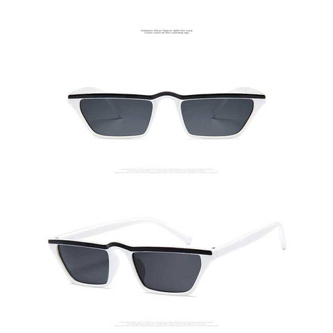 688123a0e4dc ... Sunglasses Women Retro Black Cat Eye Small Frame Sun glasses for Men  Brand Designer Red Colorful ...