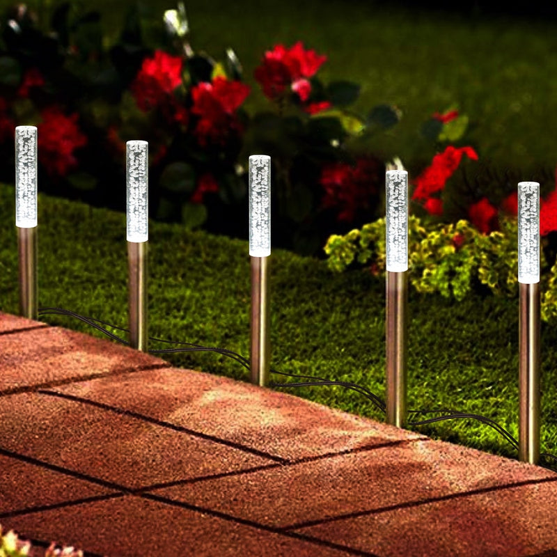 5/8pcs Bubble Solar Tube Stake Lights - Backyard Gardener | DIY, Gardening & Home Decor