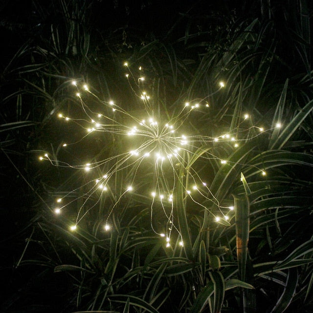 90/150 LED Solar Fireworks Light - Backyard Gardener | DIY, Gardening & Home Decor
