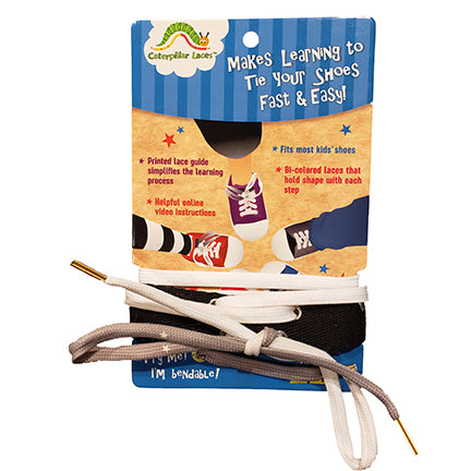 Caterpillar Lace Practice Leg Strap - Easily practice tying knots on this leg strap -  Includes 2 laces and one practice leg strap