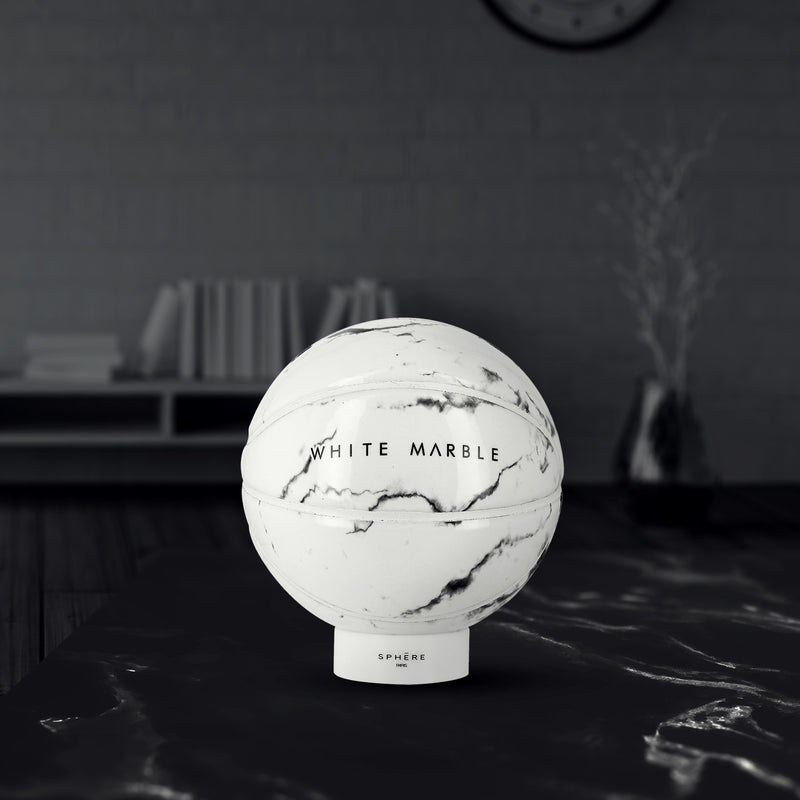 white marble sphere paris basketball