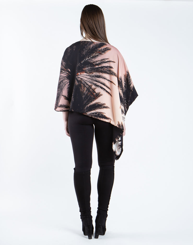 LA Palm Tree Reversible Poncho