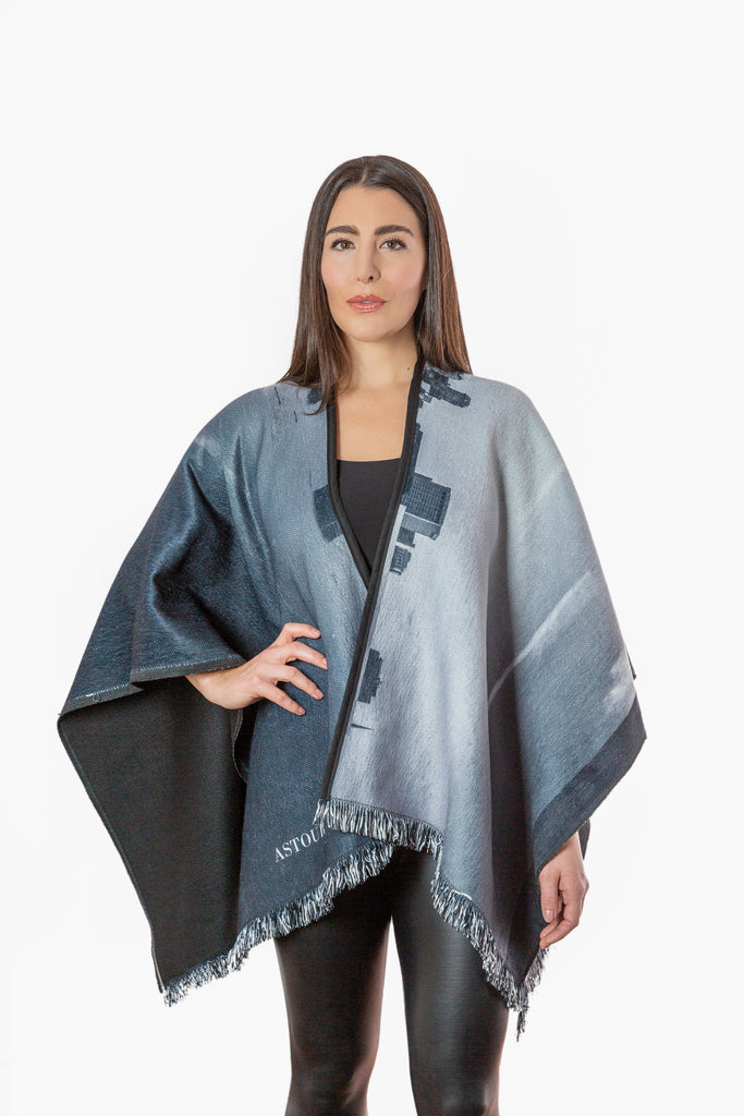 Detroit Reversible Winter Cape